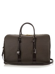 Saint Laurent Coated Canvas Monogram Holdall Brown Multi