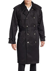 Lauren Ralph Lauren Double Breasted Trenchcoat Black