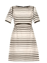 Goat Becky Striped Organza Dress White Stripe