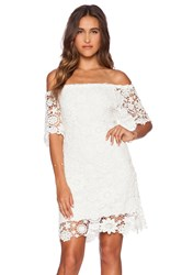 Nightcap Caribbean Crochet Off Shoulder Dress White