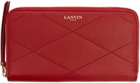 Lanvin Red Quilted Leather Sugar Wallet