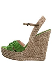 Pura Lopez High Heeled Sandals Mint Green