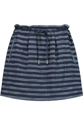 Marc By Marc Jacobs Dalea Striped Boucle Tweed Mini Skirt Blue