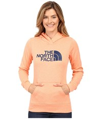 The North Face Fave Pullover Hoodie Feather Orange Heather Cosmic Blue Women's Sweatshirt