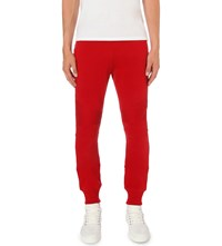 Balmain Relaxed Fit Cotton Jersey Jogging Bottoms Red
