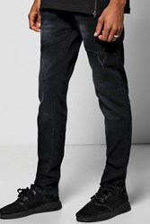 Skinny Fit Cut And Sew Distessed Jeans