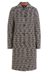 Missoni Reversible Cardigan Coat With Wool Blue