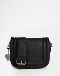 Marc B Saddle Cross Body Bag Black