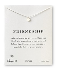 Dogeared Friendship Anchor Necklace 18 Silver