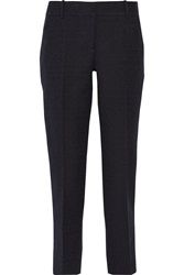 Oscar De La Renta Cotton Blend Straight Leg Pants