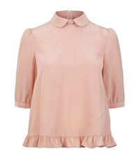 Red Valentino Tie Neck Silk Blouse Female Pink