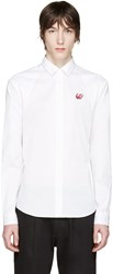 Mcq By Alexander Mcqueen White Embroidered Harness Shirt