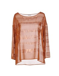 Gold Case Shirts Blouses Women Brown