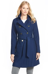 Guess Wool Blend Trench Coat Sapphire