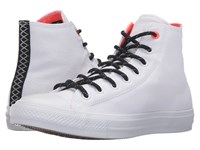 Converse Chuck Taylor All Star Ii Shield Canvas Hi White Lava Gum Lace Up Casual Shoes