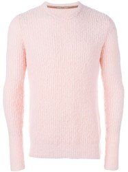 Nuur Crew Neck Jumper Pink And Purple