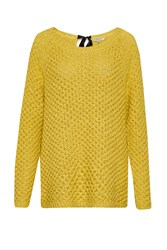 Great Plains Textured Tonic Bow Tie Tunic Jumper Yellow