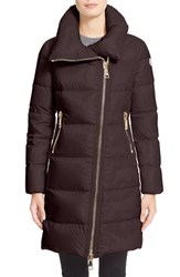 Women's Moncler 'Joinville' High Collar Down Puffer Coat Burgundy