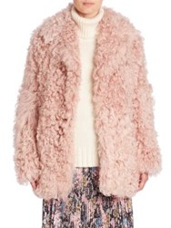 A.L.C. Stone Shearling Coat Dusty Pink
