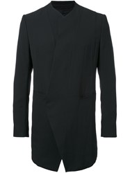 Julius Collarless Blazer Jacket Black