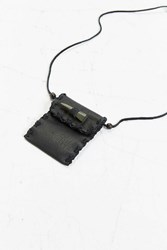 Urban Outfitters Leather Pouch Necklace Black