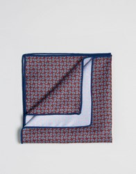 Selected Homme Pocket Square Red