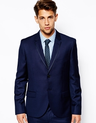 French Connection Slim Fit Suit Jacket Basket Weave Navy