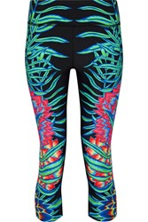 Mara Hoffman Cropped Printed Stretch Jersey Leggings Black