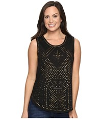 Tasha Polizzi Star Dust Tank Top Black Women's Sleeveless