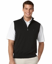Callaway Quarter Zip Fleece Performance Golf Vest Anthracite