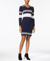 Ny Collection Petite Striped Sweater Dress Kristin