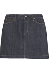 Burberry Stretch Denim Mini Skirt