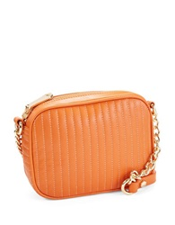 Kenneth Cole Sloan Street Leather Crossbody Bag Tigerlily