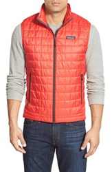 Men's Patagonia 'Nano Puff' Packable Water Repellent Primaloft Gold Full Zip Vest French Red