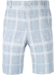 Thom Browne Checked Shorts Blue