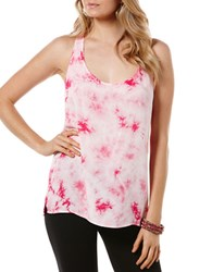 Candc California Tie Dye Tank Shocking Pink