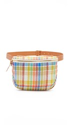 Clare V. Fanny Pack Madras Weave