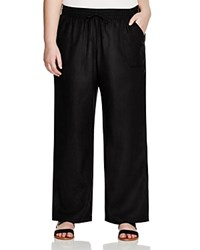 Allen Allen Plus Drawstring Linen Pants Black