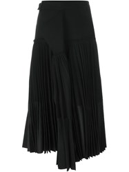 Haider Ackermann Pleated Draped Skirt Black