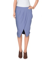 Just Cavalli Knee Length Skirts Lilac