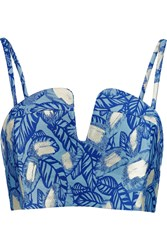 Opening Ceremony Jacquard Bustier Blue