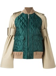 Sacai Military Bomber Jacket Green