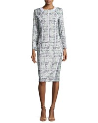 Lafayette 148 New York Sylvana Tweed Pencil Skirt Frosted Mint