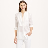J.Crew Grosgrain Ribbon Tux Shirt