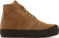 Visvim Brown Suede Ludlam Hi Folk Boots