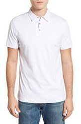 Men's Robert Barakett 'Dalton' Pima Cotton Polo White