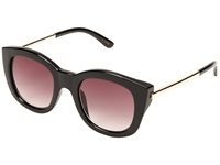 Le Specs Runaways Luxe Black Warm Smoke Gradient Fashion Sunglasses