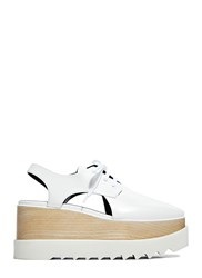 Stella Mccartney Elyse Cut Out Shoes White