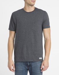 Element Grey Chest Pocket Round Neck T Shirt