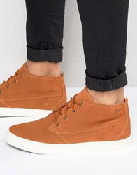 Pointer Randall Mid Plimsoll In Suede Tan